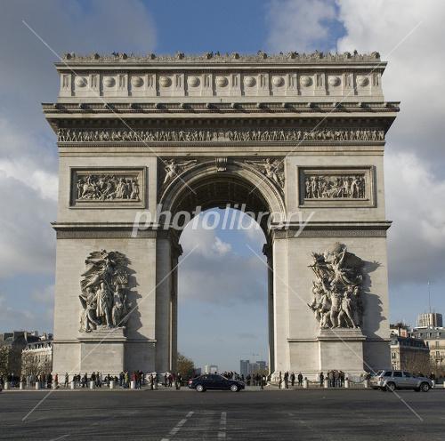 France World Heritage Paris Banks of the Seine Arc de Triomphe Photo