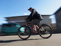 Men ride a bicycle Stock photo [1686269] Bike