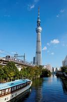 I face the Tokyo Sky Tree that blue sky spreads than Minamotomori-kyo Stock photo [1687022] Minamotomori-kyo