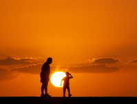 Sunset and parent-child Stock photo [1688811] Sunset