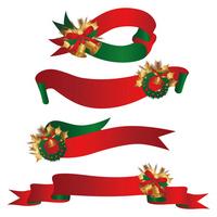 Christmas ribbon background set [1690282] Christmas