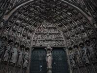 Strasbourg Cathedral entrance Stock photo [1692623] Strasbourg
