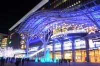 JR Hakata City of illumination night view Stock photo [1698991] JR