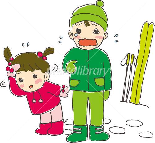 スキー場で迷子になる子供 イラスト素材 1770600 フォトライブ
