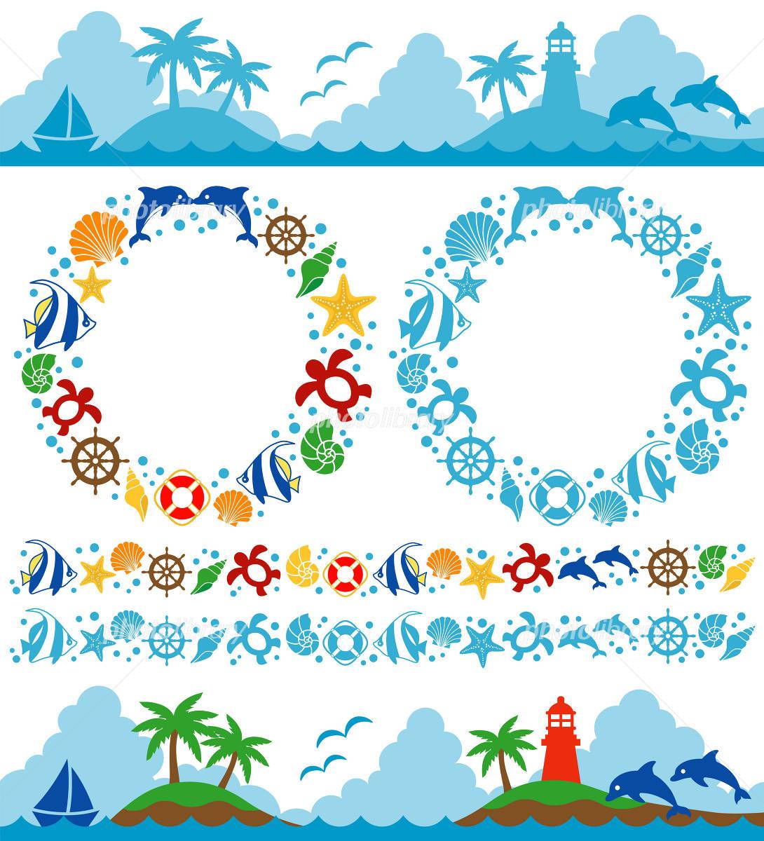 海 イラスト イラスト素材 1771169 フォトライブラリー Photolibrary