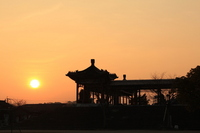 Sunset and silhouette of Confucius park. Stock photo [1766596] Bussan