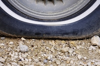 Punctured tire Stock photo [1768144] Tire