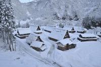 Morning of winter Gokayama Suganuma village snow Stock photo [1775718] Gokayama