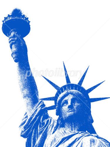 自由の女神 上半身スケッチ イラスト素材 1867131 フォトライブ