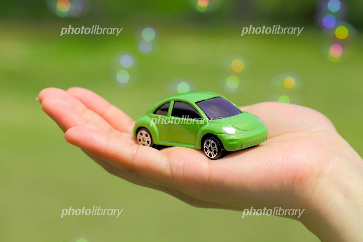 Palm of cars and Bubbles Photo