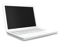 White laptop computer [1862325] Laptop