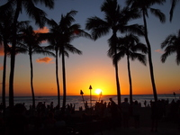 Waikiki sunset Stock photo [1867432] Hawaii