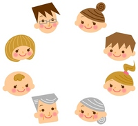 Family face illustrations [1869936] Family