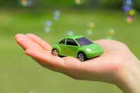 Palm of cars and Bubbles Stock photo [1871429] Eco