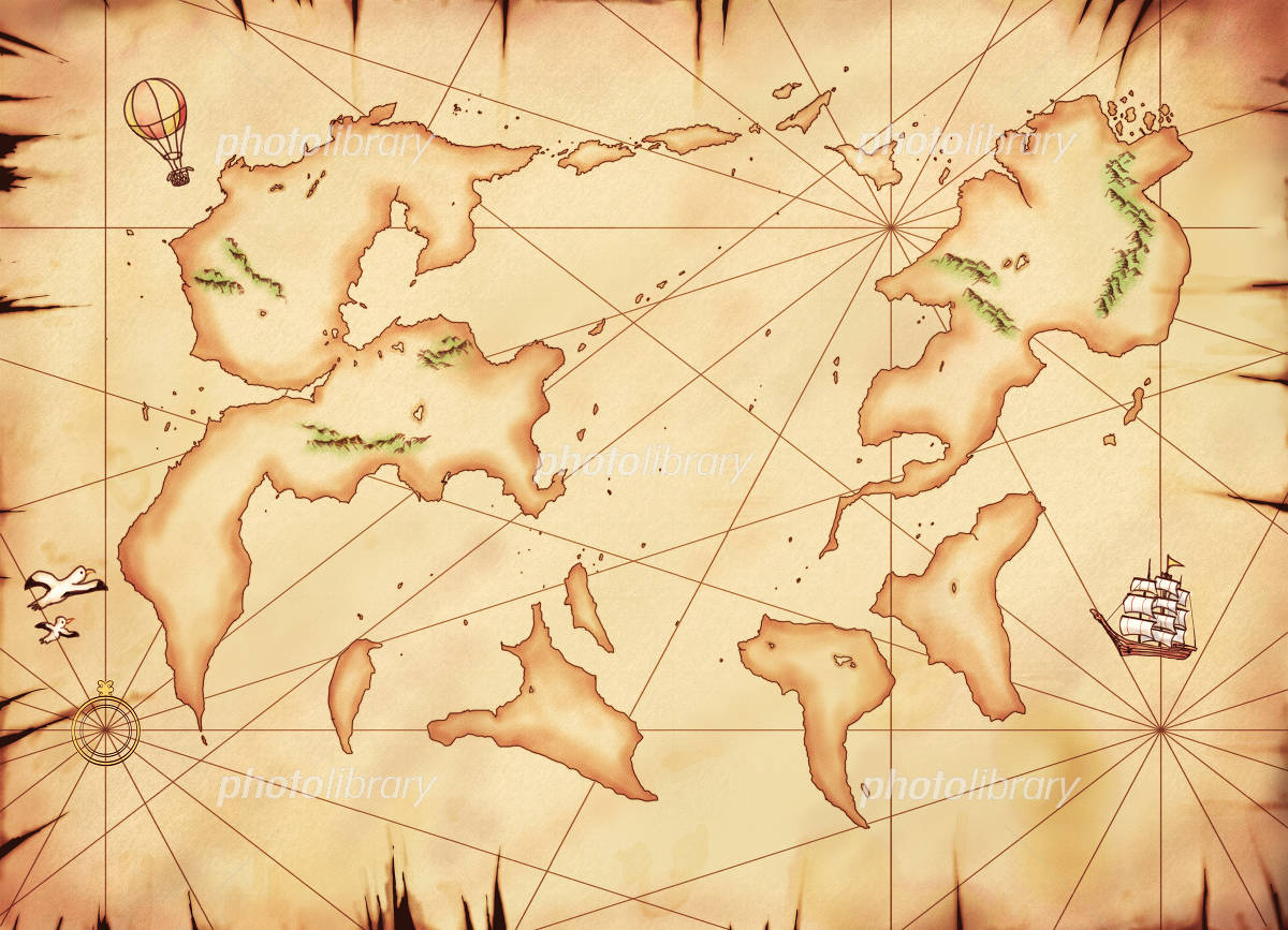 Old otherworldly world map イラスト素材