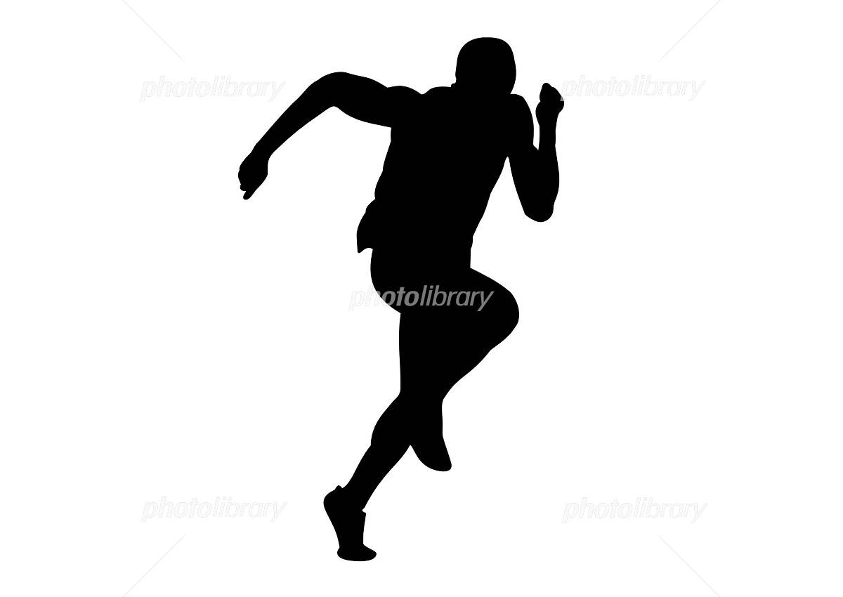 People who run イラスト素材