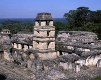 Palenque ruins palace astronomical observation tower Stock photo [1976441] Palenque