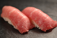 Of Hokkaido Toi assets and tuna nigiri sushi stock photo