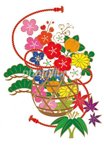 花籠 イラスト素材 2089402 フォトライブラリー Photolibrary