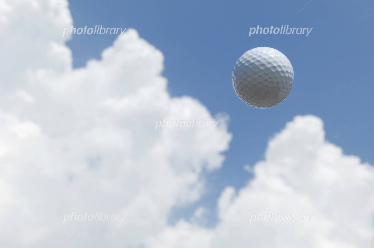 The golf ball in blue sky Photo