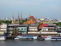 Wat Pho View from Wat Arun pagoda Stock photo [2090251] Thailand