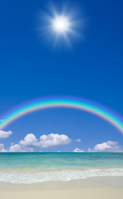 Sandy beaches and rainbow Stock photo [2098282] America