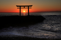 Divine torii of Kamiiso sunrise Stock photo [2181035] Kamiiso