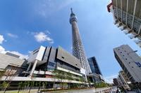 Tokyo Sky Tree blue sky spreads and Tokyo Sky Tree Town Stock photo [2183239] Landscape