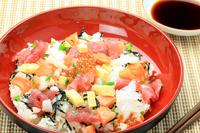 Chirashi sushi stock photo