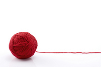 Red wool ball on white background Stock photo [2184105] Wool
