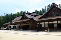 Koyasan Kongōbu-ji main hall stock photo