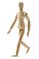 wooden doll walking Stock photo [2188856] Doll