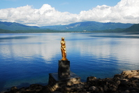 Lake Tazawa and Tatsuko image Stock photo [2192543] Lake