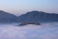 Takeda Castle you floating in the sea of fog Stock photo [2194452] Takeda