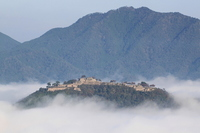 Takeda Castle you floating in the sea of fog Stock photo [2194459] Takeda