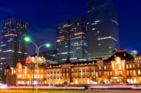 Tokyo Station night view Stock photo [2196068] Tokyo
