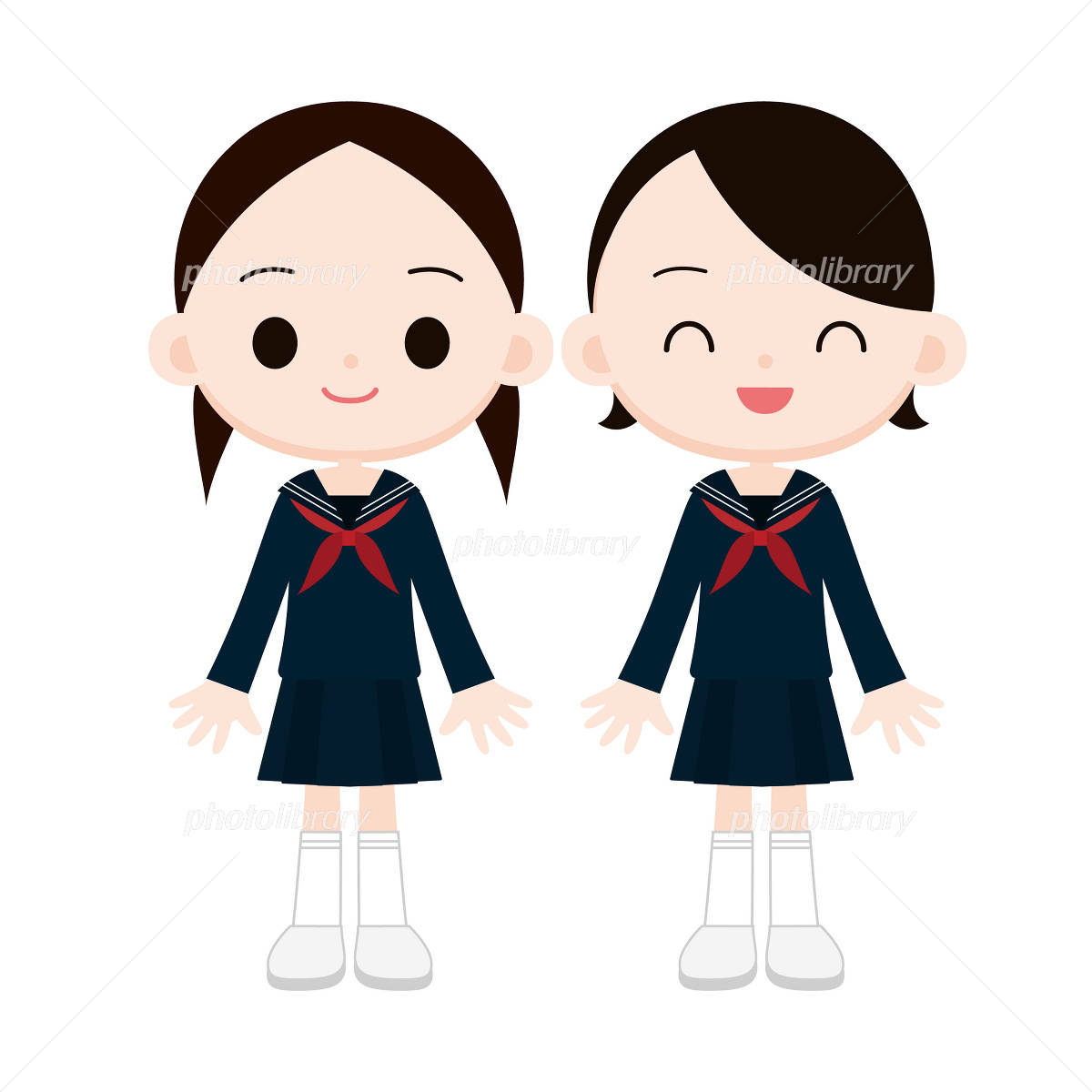 女子中学生のイラスト