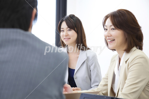 OL and businessman in meeting Photo