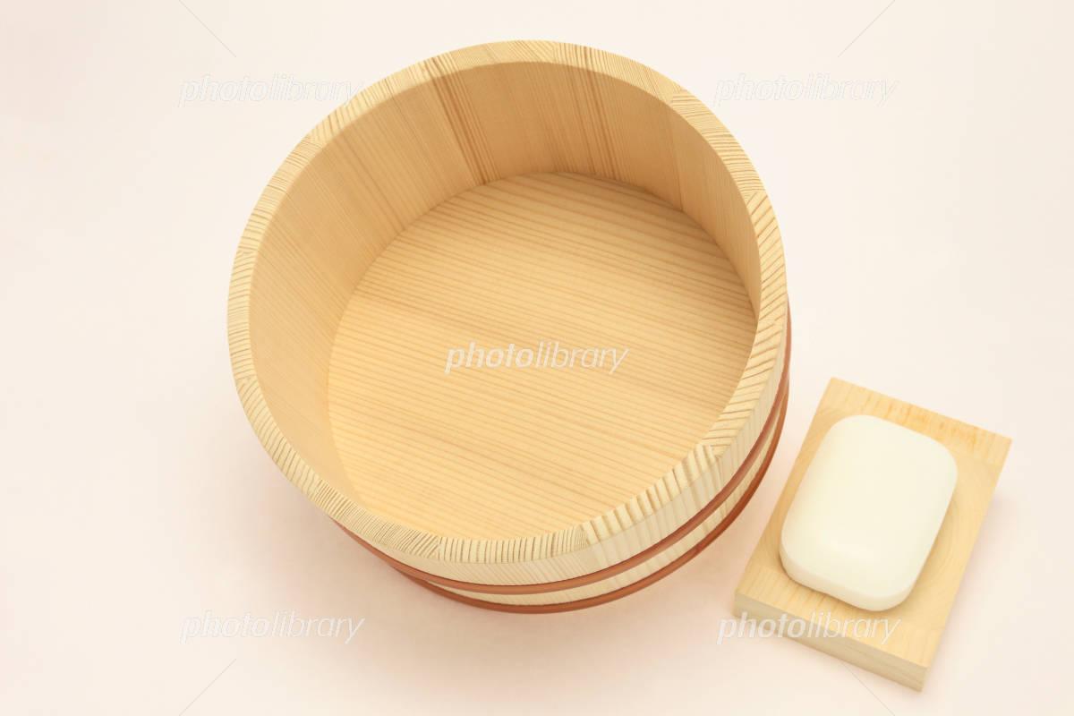風呂 風呂桶 : 風呂桶と石鹸 写真素材 ...