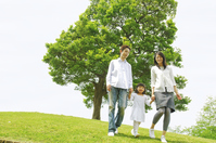 Family walk in the park Stock photo [2319033] Three