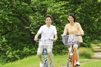 Couple running by bicycle Stock photo [2319094] 2