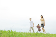 Family walking riverbed Stock photo [2319114] Three