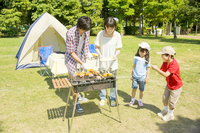 Family to enjoy a barbecue Stock photo [2319248] Dad