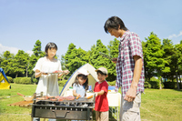 Family to enjoy a barbecue Stock photo [2319250] BBQ