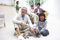 3 generations family gatherings landscape Stock photo [2320394] 3