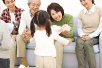 Girl to pass the gift to grandmother Stock photo [2320397] 3