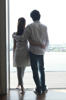 Rear View of a couple that look out at the window Stock photo [2320444] 20
