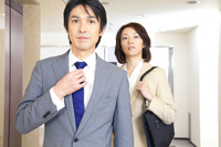Businessman and OL walking down the hall Stock photo [2322331] 2