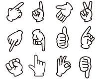Hand sign [2326128] Hand