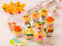 Cup sushi stock photo